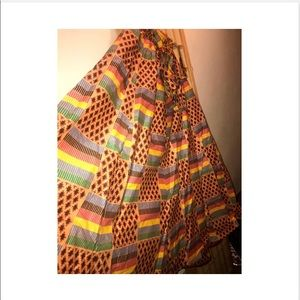 Skirts - NEW Ethnic Print Pull-on Pleated Maxi A-line Skirt